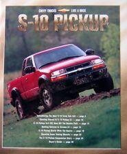 2000 Chevrolet S 10 Sales Brochure