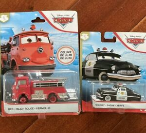 Disney Pixar Cars HERO's LOT Of 2. Sheriff, Red. First Responders Police Fire