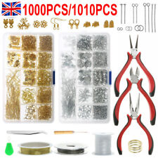 Jewellery Making Kit Wire Findings Pliers Starter Tool Necklace Ring Repair DIY