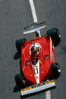 OLD MOTOR RACING PHOTO Carlos Reutemann In A Ferrari 312T3 Monaco Gp 1978