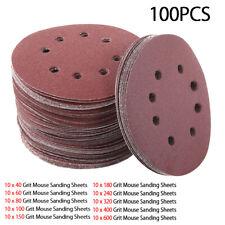 100pcs 5inch 125mm Hook & Loop Sander Sanding Discs Pads 40-600 Grit Sandpaper