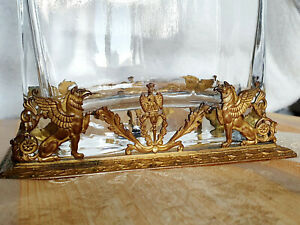 Antique Gilt Bronze Griffin Vase Empire style 19thc