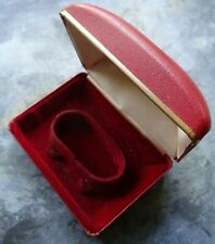 vintage ROTARY red jewellery box fitted for watch -P132