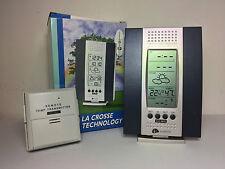 """SVEGLIA RADIOCONTROLLATA  CON PREVISIONE TEMPO """"LA CROSSE TECHNOLOGY"""" REF U7014"""