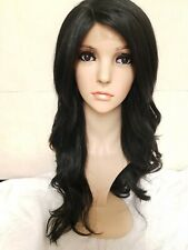 Brazilian Wave Human Hair Lace Front Wig Wavy Full Wigs Black Brown Wavy