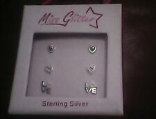 set or 3 Sterling Silver Earrings