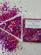 Nail Art Glitter Mix 2mm / 1mm (razzle Dazzle) Chunky Holographic Stars 10g Bag