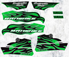 2010 Yamaha Banshee Green/Black Decals Stickers Labels Graphics 8pc