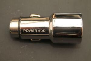 Poweradd Metallic Housing Car Charger - New