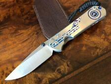 Chris Reeve Knives Small Sebenza 31 Drop Point Unique Graphic Hematite S31-1408