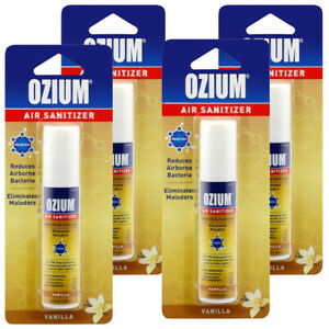 Ozium Air Cleaner 0.8 oz Spray, Vanilla Scent 4-PACK