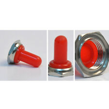 Red 12mm Rubber Rocker Toggle Switch Knob Hat Waterproof Boot Cover Cap Sales