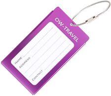 ✅ titular de la tarjeta de negocios de etiqueta de equipaje para Maletas Mochilas-Travel Gift Violeta