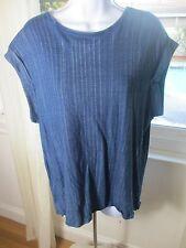 Cloth & Stone Blue SS Swing Back Cotton Top Size Medium