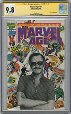 1986 Marvel Age 41 CGC 9.8 Signed By Stan Lee