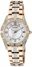 Bulova 98L197 Crystal 30.5MM Women's Rose Gold Stainless Steel Crystal Watch