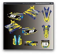 Yamaha YZ 125 250 MX Motocross 2015 2016 2017 2018 2019 2020 graphic kit decal k