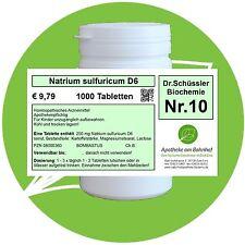 Schüßler - Salz 10 Natrium sulf. D6 1000 Tabletten PZN 08000360