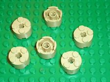 6 x LEGO Tan Brick Round 2x2 ref 3941 / set 8037 8129 10227 4842 7621 10198 4851