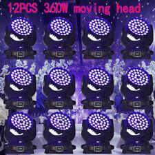 360W Rgbw Zoom Moving Head Light Dmx 36x10W Led Stage Party Show Wedding 12Pcs