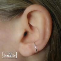 Sterling Silver Fake Conch Cuff- Faux Silver Conch Ear Ring- Fake Body Piercing