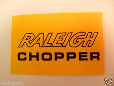 RALEIGH CHOPPER MK 2 SEAT PLATE DECAL - CHOPPER SEAT STICKER