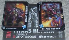 Transformers Titans Return GROTUSQUE SCORPONOK Nycc BIO and MANUAL Listing