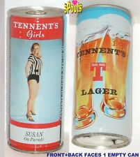 TENNENT'S GIRL SUSAN ON PARADE LAGER LOVELY BEER CAN UK UNITED KINGDOM SCOTLAND