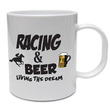 Funny Jockey Taza-carreras de caballos y cerveza-Gracioso Taza de Salto del Caballo Idea de Regalo