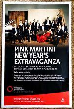 Pink Martini 2017 Gig Poster Portland Oregon Symphony Concert New Year's Eve + 1