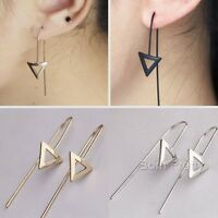 1 Pair Hollow out Triangle Earrings Women Punk Ear Studs Fashion Jewelry Gift