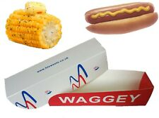 Cardboard Hot Dog boxes, trays/ Corn on a cob trays 17.5x4.4x4.4cm, Disposable