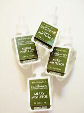 Bath Body Works, White Barn, MERRY MISTLETOE Wallflower Refill Bulbs, NEW x 4