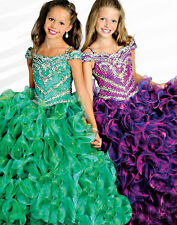 Girl Pageant Birthday Kid Prom Party Princess Ball Gown Formal Dress Size 2-12 A
