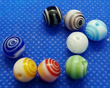 lot de 8 grosses perles verre de Murano millefiori rondes 8mm 8 couleurs //12