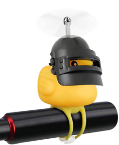 Bike Duck Bell Accessories with LED Light and Handlebar Horns for Kids and Adult