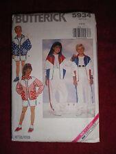 BUTTERICK PATTERN 5934 SIZE 7-10 BOY/GIRL'S JACKET,PANTS,SHORTS UNCUT