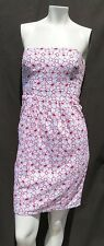 Jean Paul Gaultier Target White Red Cotton Eyelet Strapless Fitted Dress sz XS 5