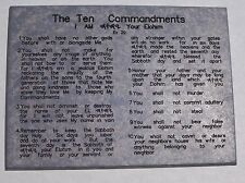 Hebrew – Holy Name - Messianic - Ten Commandment Plaque