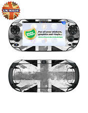 PS Vita Union Jack Vinyl Skin Decal -Black+White-Playstation Vita Skin Stickers