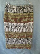Vintage 90's Ora Safari Print Wrap Skirt Plus Size 1X Urban Nomad Long Maxi