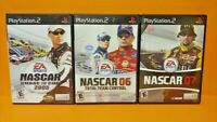 Nascar 2005 06 07 Racing Chase Cup Total Team PS2 Playstation 2 Game Lot Works