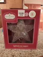 "7"" Trim A Home Lighted Star Tree Topper 2 warm white new free shipping!"