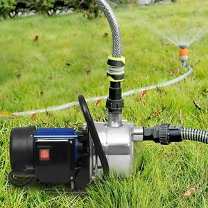NEW 1200W Electric Water Booster Pump Stainless Steel Garden Sprinkler Pump Pool