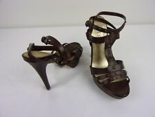 """Guess 5"""" T-Strap Peep-Toe Heels  SIZE: 7M      BROWN"""
