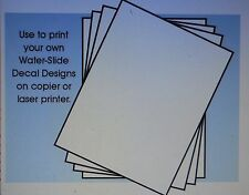 """4 PK 81/2""""x11"""" CLEAR DECAL PAPER FOR PRINTER COPIER CAR MODEL ACCESSORY"""