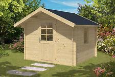 34 mm Gartenhaus 3x3 m Durchgangshöhe Tür 2 m Gerätehaus Blockhaus Holzhaus Holz
