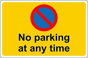 Keep clear no parking at any time safety metal park safety sign