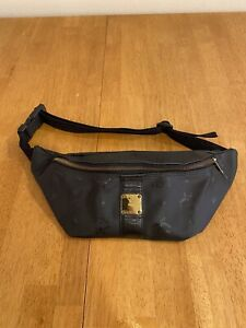MCM Black Fanny Pack Leather Vinyl Belt bag