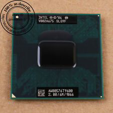 Intel Core Duo T9600 - 2 2,8 ghz 1 066 MHz SLG9F socket p cpu pour ordinateur portable PGA478